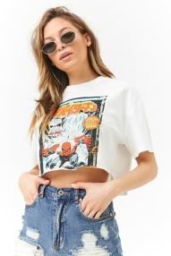 cropped spiderman top