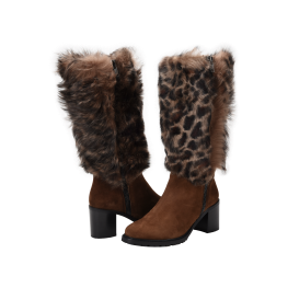 Ross & Snow Rosina Boot - mid-calf boot in Leopard print